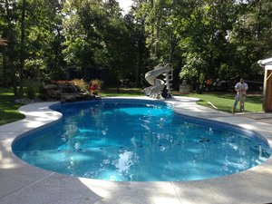 Concrete Residential Pool #015 by PM Pool And Spas